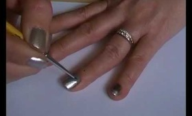 Gun Metal French Tip Easy Nail Art For Long and Short Nails