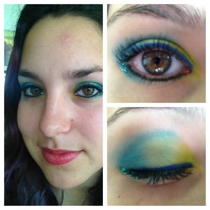Shades Fringe, Freak, Thrash and Chaos, plus the Urban Decay Perversion eyeliner, Urban Decay glitter in Loaded, and of course the Per-fekt Lash Perfection Gel.