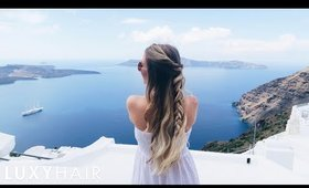 Day-to-Night Travel Hairstyle | Let's Visit Santorini | Luxy Hair