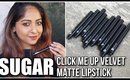 *NEW* SUGAR CLICK ME UP VELVET MATTE Lipsticks | Swatches - Review - Comparisons | Stacey Castanha