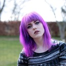 Purple hair and makeup