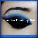 Black and blue cat eye