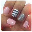 Pastel Zig Zag Manicure