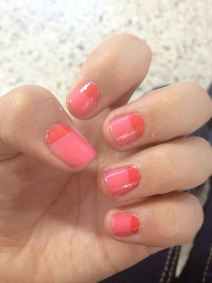 Pink Girly nails easy to do!