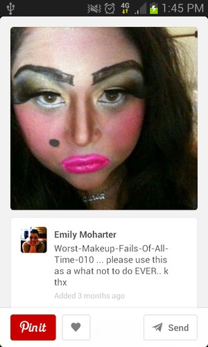 Makeup Fails Ugly Makeup: Post Your Worst Makeup Fail Picture!