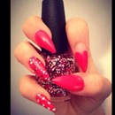 Valentines nails love these