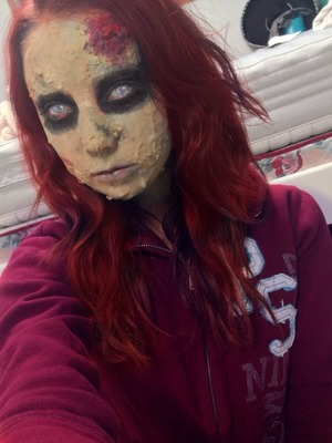 A zombie look for Halloween
