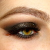 Black Smokey Eye with Glitter