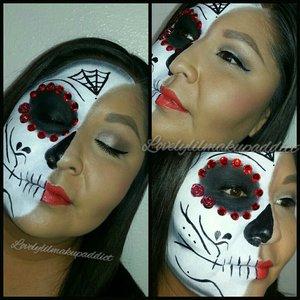 Half sugar skull @lovelylilmakupaddict