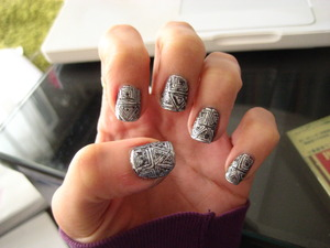 inspired by naomi yasuda for minx, from the limited edition gaga's workshop @ barneys nail foils