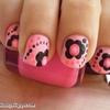 Nail, Pink, Black