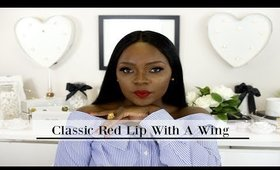 Classic Red Lips with A Wing ft Lena Lashes Tom and Laurent | Marlene Aymone