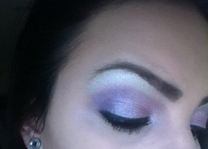 Pastel purple and pink with shimmer.