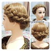 Sweet Prom Wedding Crown Braided Updo