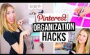 PINTEREST HACKS... TESTED! #4 || Desk & Room Organization!
