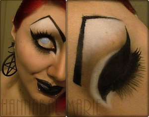 """The complete look for the little inspired thingy I did. """"Eyebrows on FREAK!!"""""""