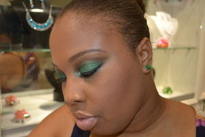 My colour of the year look! Done with some of my fave greens from Sugarpill Cosmetics.