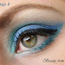 Makeup look inspired by the hunger games district 4 close