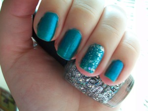 OPI Austin-tatious & Disco Ball Sparkle  To read my review of the polish please visit my blog:  www.mazmakeup.blogspot.com