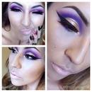 Gold & Purple Cut-Crease