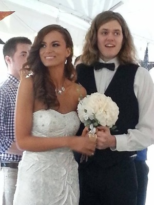 Me and my Hubby. <3 Hair done by Mallori Nordness and Makeup done by ME! :D