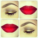 Ruby Woo and Gold Liner