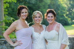 Bridesmaid to the left. Bride in the Middle. Maid of Honor to the right.  I assisted my friend and colleague Nicole Cudzilo for this lovely wedding. As she did the gorgeous Bride I assisted in the Bridesmaid make up.