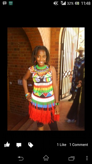 fully beaded skirt and top