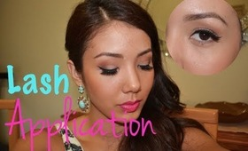 EASY HOW TO: Apply False Lashes (Using Red Cherry lashes)