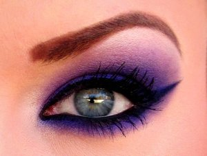 "LOVE purples!  Lime Crime's ""Empress"" and Kat Von D ""Redemption"" are perfect together!"