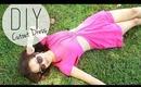 DIY Summer Cutout Dress / Beach Coverup