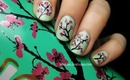 Arizona Green Tea Cherry Blossom Nails