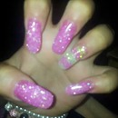pink and green uv gels.