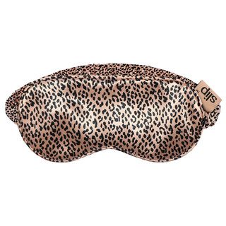 Silk Sleep Mask Rose Gold Leopard