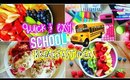 Quick and Easy Breakfast Ideas For School! Back To School 2015!