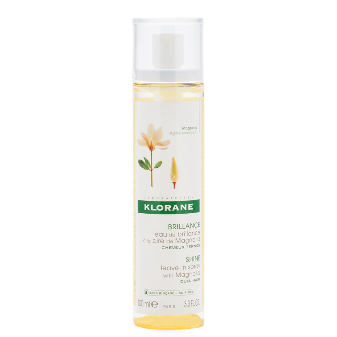 Klorane Leave-In Spray with Magnolia product swatch.