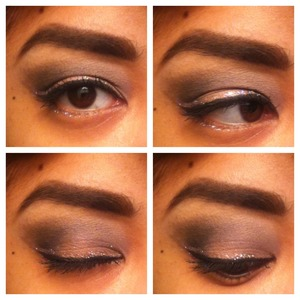 smokey eye with smashbox, laura mercier, and bobbi brown products