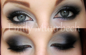 Silver smokey eye.  http://trickmetolife.blogg.se