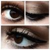 brown, eyeshadow, eyeliner, cat eye