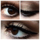 brown, cat eyeliner, black, holiday