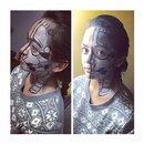 Robot makeup (Halloween)