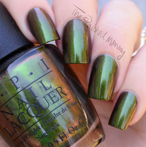 For swatches and review click here>> http://www.thepolishedmommy.com/2014/08/opi-green-on-the-runway.html