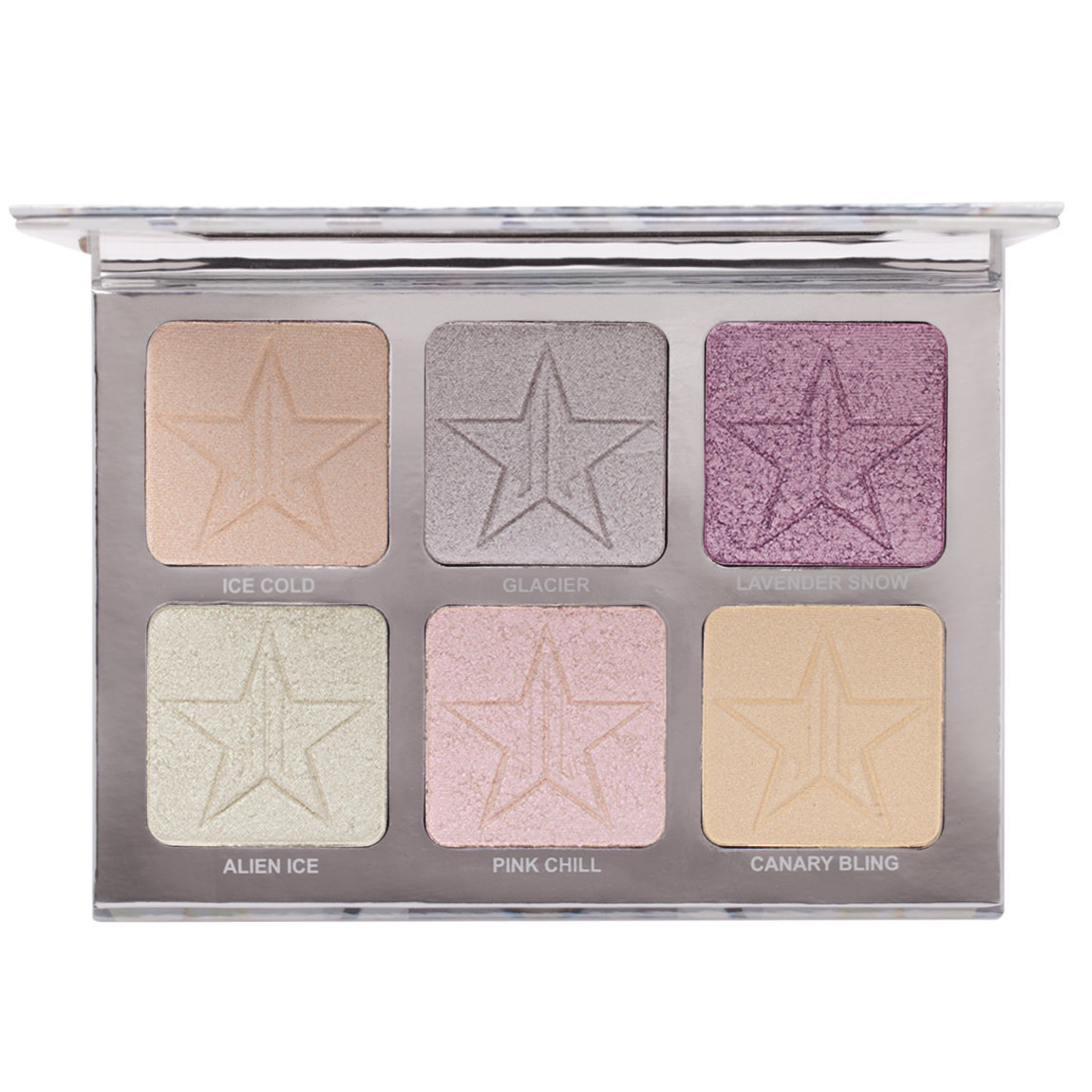 Jeffree Star Cosmetics Skin Frost Pro Palette Platinum Ice product smear.