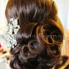 Beautiful Side Swept Updo with Curls & Poof- Wedding/Prom Hair