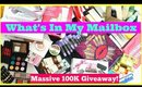 Massive 100K Giveaway & What's In My Mailbox HAUL