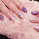 Matt purple & lilac gloss.