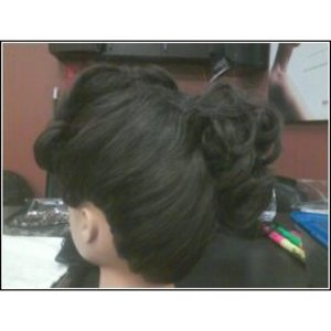 Another view of my updo