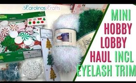 Quick Hobby Lobby Haul with 40% off Christmas Crafts and I finally found EYELASH TRIM!