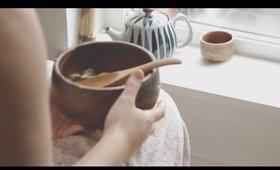 What I ate: Sick Day │ Mushroom Miso Soup & Ginger Brown Rice ⎛vegan⎠
