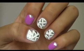 Nail art using ALUMINUM FOIL!